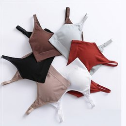 Wholesale New Vest style Thin Underwear sexy Lingerie Soft Bras wrapped chest for Women Bralette Seamless Thread Girl Women Bras