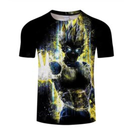 funny men t shirts UK - 2019 New Goku Fashion Anime Dragon Ball Saiyan Vegeta Women Men Printed T-shirt Funny 3d T Shirt Casual 3d T Shirts Tees Short Sleeve K1168