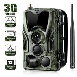 Discount outdoor night vision surveillance cameras 3G HC801G Trail Camera with Motion Activated Night Vision Wild life Hunting Cams Game Cycling Camera for Outdoor Surveil
