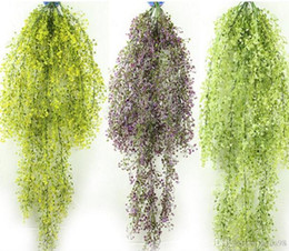 hanging basket fake plants Australia - Bursting 115cm Jinling willow wall hanging simulation plant wall decoration hanging basket orchid cane plastic fake flower 10pcs lot L251