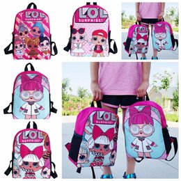 Wholesale Kids Cartoon Backpacks Surprise Dolls School bag Baby Girls Fashion Shoulder Bags Children Double Shoulder Backpack GGA2353