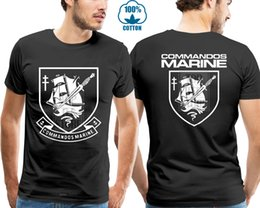 usa t shirt size Australia - French Navy Special Operation Forces Counter Terrorist Commandos Marine T Shirt Men Two Sides Casual Tee Usa Size S 3xl