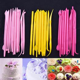 $enCountryForm.capitalKeyWord Australia - Fondant Cake Tool 14 Pcs Set Mini Sugar Flower Carving Group Tools Cake Engraving Pen Soft Clay Mold