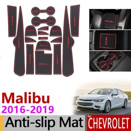 $enCountryForm.capitalKeyWord Australia - Anti-Slip Gate Slot Mat Rubber Cup Coaster for Chevrolet Malibu 2016 2017 2018 2019 9th Gen MK9 Accessories Stickers Car Styling