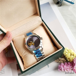 Ring Slides Australia - Top Luxury Windbreak New Main Ceramic Watch Ring Men's Watch Sliding Lock Belt Automatic Blue and Black Watch Sports Crown or Rosie
