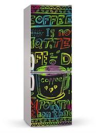 China Fridge Vinyl Sticker Coffee Graffiti Self-Adhesive Vinyl Refrigerator Decal   Fridge Wraps   Refrigerator Wrap cheap package toilet suppliers