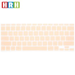 Macbook Version Australia - HRH Cream Skin Silicone Laptop English Keyboard Protector Cover Protector For Macbook Air 11.6 inch 11 A1370 A1465 US Version
