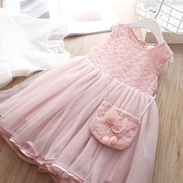 White Clothes For Baptism Australia - Girls Dress Baptism Tutu Wear Children Clothes For Girl Sleeveless Beautiful Costume Kids Summer 3 4 Years Dresses High Quality Y19061801