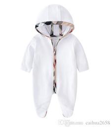 2020Baby mamelucos del otoño del resorte Ropa del bebé Nuevo mameluco del algodón de los bebés recién nacidos Niños Diseñador infantil encantador del mono de tela en venta