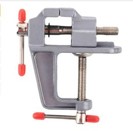 mini craft tools 2019 - Durable New 30MM DIY Mini Aluminum Alloy Craft little Jewelry Light Table Bench Clamp Varied Tool Vice discount mini cra