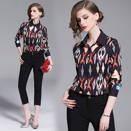 $enCountryForm.capitalKeyWord Australia - New Style Spring Fall Runway Women's Fashion Street Style Floral Print Blouses Shirts Elegant Office Lady Sexy Slim Celebrity Shirts Tops