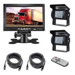 Trailer camera online shopping - 7 Inch Tft Lcd Car Display Dual Camera For Bus Rv Fleet Trailer