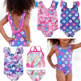 Swimwear Infant Australia - Cute Newborn Baby Girls Swimsuit Princess Flower Butterfly Toddler Kids Swimwear Swimmable Summer Infant Swimming Costume 35
