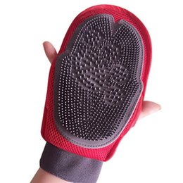 deshedding tool wholesale UK - Pet Grooming Dog Hair Brush Comb Deshedding Glove For Pet Cleaning Massage Supply Glove For Animal Finger Cleaning Cat Glove