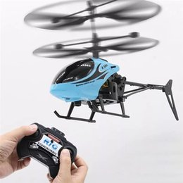 toy helicopter induction Australia - Mini RC Infrared Induction Remote Control RC Toy 2CH Gyro Helicopter RC Drone USB Charger Transmitter Helicopter