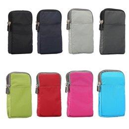 Vente en gros Couverture de cas de sac de téléphone portable pour lame de ZTE A510 A512 A520 A1 AF3 A5 A6 L3 L4 Sport Zip 2 poches en nylon