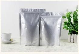 Food Packs Wholesalers Australia - Pure aluminum foil zipper bag dry fruit packing bag tea seal bag powder snack seal pocket food self-sealing