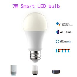 $enCountryForm.capitalKeyWord Australia - WiFi E27 7W LED Smart Light Bulb Dimmable Colorful Music Lights Google Assistant Alexa Home Automation Lamp By DHL