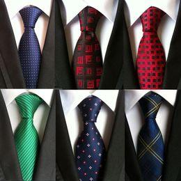 $enCountryForm.capitalKeyWord Australia - hot 100% silk plaid ties gifts for men shirt wedding cravate pour homme jacquard woven necktie Party gravata Business Formal 8cm tie