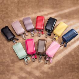 $enCountryForm.capitalKeyWord NZ - Genuine Leather Key Wallet Men & Women Car Key Bag Multi Function Key Case Fashion Ladies Housekeeper car keychain Holders