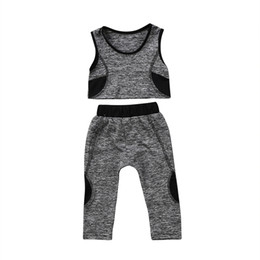 $enCountryForm.capitalKeyWord NZ - 2018 Brand New Toddler Infant Child Kid Baby Girl Yoga Vest Crop Top Pants Leggings Running Sport Patchwork Outfits 2Pc Set 1-6T #286109