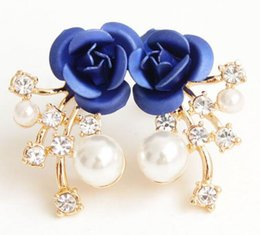 free drill bits Australia - free shipping Popular branch ironclad flower is set drill bit drill bit pearl ear stud fashionable and classic delicate and elegant