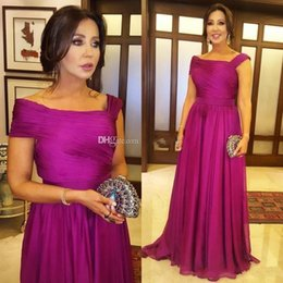 Plus size mother bride sPring online shopping - 2019 Elegant Fuchsia Mother Of The Bride Dresses With Draped Floor Length Plus Size WomenMother Prom Party Gowns Wedding Guest Gowns