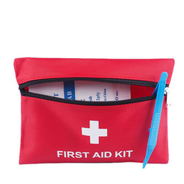 emergency scissors 2019 - First Aid Kit Outdoor Survive for Travel Home Office Vehicle Camping Include Emergency Foil Blanket Scissors Red Outdoor