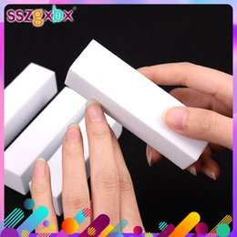 sponge blocks Canada - Beauty & Health 10PCS Sanding Sponge Buffers File For UV Gel White Nail File Buffer Block Polish Manicure Pedicure Sanding Nail