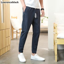 Mens Long Cotton Trousers Australia - 2019 Mens Baggy Pant Casual Men's Long Pants New Arrival Cotton Joggers Trousers Male Outdoors Elastic Waist Street Wear 1789