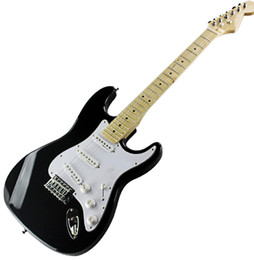 $enCountryForm.capitalKeyWord UK - Hot Black lighting Electric Guitar with White Pickguard,Maple Neck,SSS Pickups,Chrome Hardwares,offering customized services.