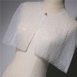 $enCountryForm.capitalKeyWord Australia - 2019 New stunning Beaded Wrap Shawl Shrug Wedding Bolero Coat Hot Sell Wedding Dress party Wedding Accessories