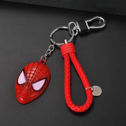 Spider Keychain Australia - Explosion Keychain Spider-Man Mask Personality Mobile Phone Bag Key Pendant