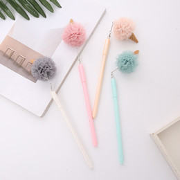 stationery Canada - 30 pcs Gel Pens Creative Ice Cream black colored kawaii gift gel-ink pens for writing Cute stationery office school supplies
