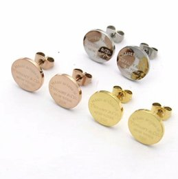 Wholesale 2019 New York fashion High Quality brand Design titanium steel sterling silver round stud earrings for Women men jewelry