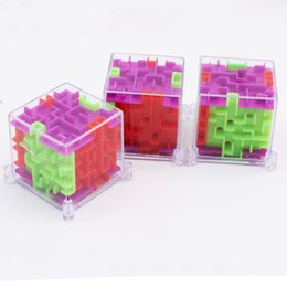 magnetic maze puzzles NZ - UainCube Upgrade 3D Cube Puzzle Maze Toy Hand Game Case Box Fun Brain Game Challenge Toys Balance Educational Toys for children