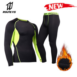 base layer thermals Australia - New Men's Fleece Lined Thermal Underwear Set Base Layer Winter Warm Long Johns Shirts & Tops Bottom Motorcycle Skiing Suit