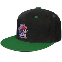 Background Prints Australia - Spiderman background pictures cartoon Green mens and women trucker flat brim cap cool fitted custom blank fitted team best personalised fla