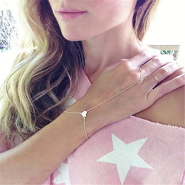 $enCountryForm.capitalKeyWord Australia - Tiny Star Chain Finger-Bracelet Wrist Ring Bracelet Fashion Jewelry Exquisite jewelry