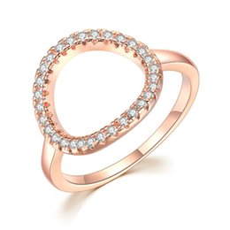 $enCountryForm.capitalKeyWord UK - Fashion Designer Hollow Out Zircon Diamond Inset O Shape Engagement Rings for Women Girls Platinum Rose Gold Color Gift Jewelry