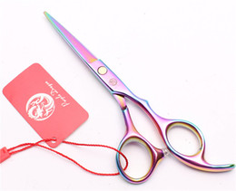 children scissors Canada - Customized Brand Multicolor Hairdressing Scissors Factory Price Cutting Scissors Thinning Shears Professional Human Hair Scissors