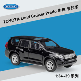 toyota toy car models NZ - WELLY Diecast Car Model Toy, TOYOTA Land Cruiser Prado SUV with Pull Back, 1:36, for Party Kid Birthday Christmas Gift, Collecting, Ornament
