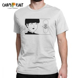 $enCountryForm.capitalKeyWord Canada - Men's Mob Psycho 100 Funny Manga Quote T Shirts Pure Cotton Clothing Vintage Short Sleeve Round Neck Tee Shirt Adult T-Shirt