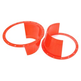 "Speaker Covering UK - wholesale 2pcs 6.5"" Car Auido Horn Speaker Waterproof Cover Plastic Protective Horn Spacer Stereo Speaker Washer Cover #5518"