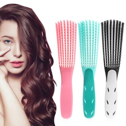 hair mint Australia - Mint Green Pink Hair Brush Scalp Massage Comb Women Detangle Hairbrush Comb Health Care Reduce Fatigue Hair Brush Hairdressing