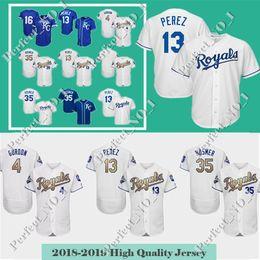 Men s Kansas City Royals 13 Salvador Perez 35 Eric Hosmer Baseball Jersey  16 Bo Jackson 4 Alex Gordon stitched Jerseys Top quality 4ac284945