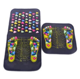reflexology massager NZ - acupuncture cobblestone foot reflexology massage pad walk stone square foot massager cushion for relax body pain health care