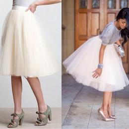 $enCountryForm.capitalKeyWord Australia - Women's Puffy Retro Vintage Crinoline Petticoat 6 Layers jupon Short Black White Red Petticoats Plus Size For