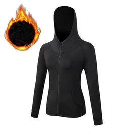Chinese  Autumn Winter Women Coats Long Sleeve Quick Dry Casual Sports Hooded Fitness Yoga Coats Running Jogging Sportswear manufacturers