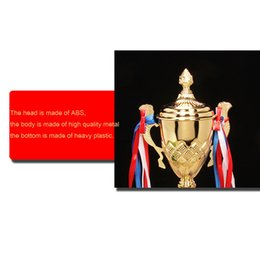 metal awards UK - Customized Trophy Metal College Sports Trophy Awards Ceremony Gold-plated Souvenir Craft Cup Trofeu Futebol